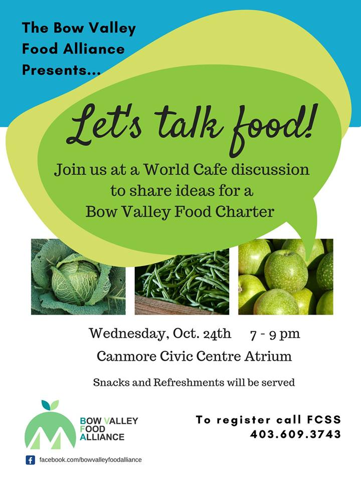 Bow Valley Food Alliance World Cafe Discussion - 106 5